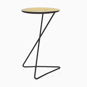 Minimalistic Metal Side Table, France, 1950s