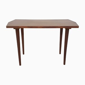 Mid-Century Teak Veneer Side Table, The Netherlands, 1950s