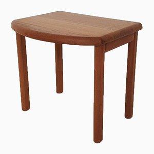 Scandinavian Solid Teak Side or Bedside Table, 1960s