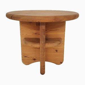 Solid Pine Wood Side Table by Rainer Daumiller, Denmark, 1970s