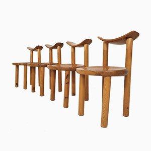 Pinewood Dining Chairs by Rainer Daumiller for Hirtshals Savvaerk, Denmark 1970s, Set of 4