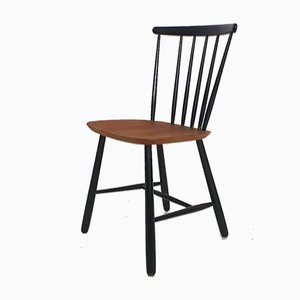Pastoe Spindle Back Model SH55 Dining Chair, The Netherlands, 1950s