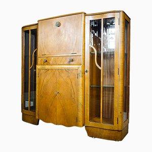 Art Deco Style Liquor Cabinet with Light, 1950s