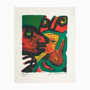 Visages Rouges by Bengt Lindstrom