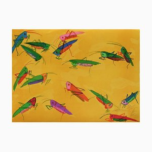 Grasshoppers by Ting Ting Walasse
