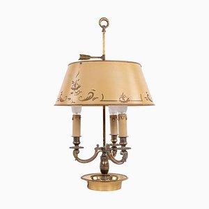 Französische Bronze Bouillotte Lampe, 19. Jh