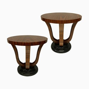 French End Tables in Zebrano Wood, Set of 2