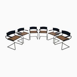 Mara Chairs by Luigi Saccardo Arrmet, 1970s, Set of 6