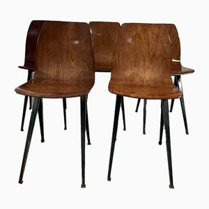 Vintage Dutch Dining Chairs from Galvanitas, 1960s, Set of 5