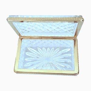 Gilded Honeycomb Glass Lidded Box, 1920s