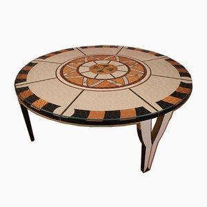 Circular Coffee Table in the Style of Carlo Bugatti