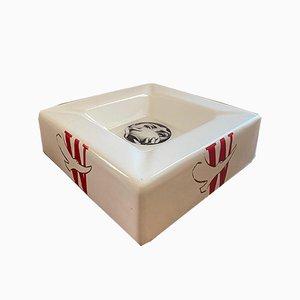 Vintage Ceramic Ashtray by Atelier Fornasetti for Winston