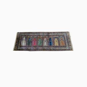 Antique Anatolian Kayseri Silk Rug, 1930s