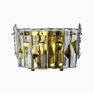 Wall Sconce with 6 Crystals from Kinkeldey, Germany, 1970s