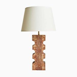 Brutalist Ceramic Table Lamp
