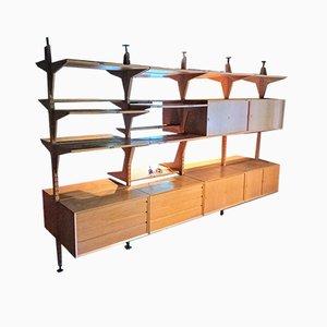 Freestanding Oak Shelving System by Poul Cadovius for Cado, Set of 31