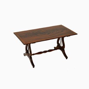 Antique Regency Style Flame Mahogany Coffee Table