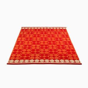 Red Flatweave Rug by Ingrid Dessau, Sweden, 1950s