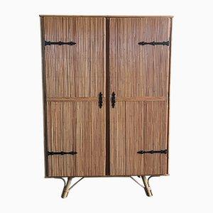 Vintage Rattan Cabinet, 1960s