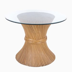 Vintage Sheaf of Wheat Dining Table in Bamboo from McGuire