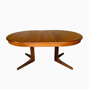 Mid-Century Scandinavian Style Extendable Dining Table with 2 Leaves by Maison Ducau, 1970s