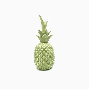Green Ceramic Pineapple Sculpture, 1980