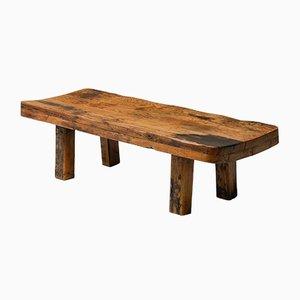 Rustic Wabi Sabi Style Modern Oak Bench or Coffee Table