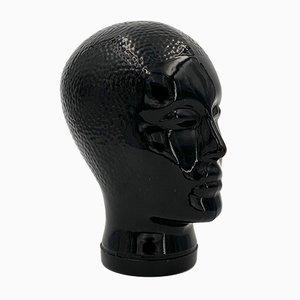 Black Glass Head by Piero Fornasetti, Italy, 1960s