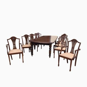 Set with Table, 8 Chairs & 2 Armchairs