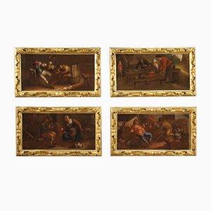 Flemish Painting of Interior Scene, 17th Century