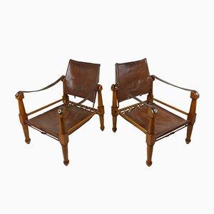 Safari Lounge Chairs, 1940s, Set of 2