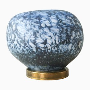 Mid-Century Blue Murano Glass Stone Effect Table Lamp, 1960s