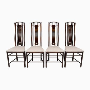 Gallery Chairs from Giorgetti, Italy, 1980s, Set of 4