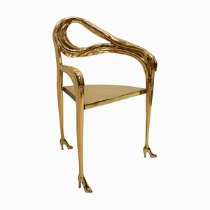 Leda Sculptural Chair from Femme à Tête de Roses Painting by Salvador Dalí