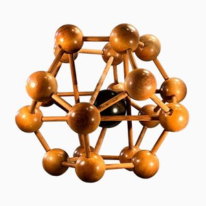 Wooden Atomium Sculpture or Puzzle, France, 1960s