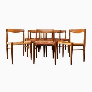 Mid-Century Danish Teak Chairs by H. W. Klein for Bramin, Set of 8