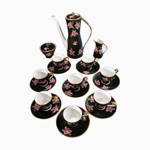 Vintage French Sevres-Vincennes Porcelain Coffee Service, Set of 19