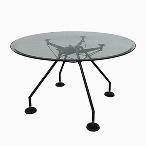 Round Nomos Table by Norman Foster for Tecno, 1980s