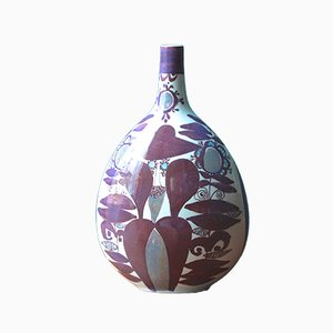 Faience Bottle Vase by Kari Christensen for Royal Copenhagen