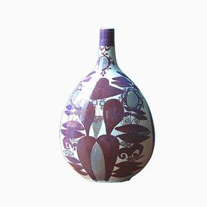 Vaso a forma di bottiglia in ceramica di Faenza di Kari Christensen per Royal Copenhagen