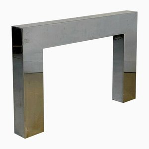 Fireplace Frame in Chromed Metal from Kappa, 1970s