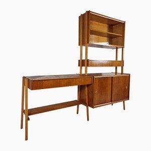 Vintage Desk, Bookcase & Chair by František Jirák, 1970s Set of 3