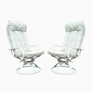 American Terrace Swivel Rocking Armchairs from Homecrest, 1980s, Set of 2