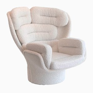 Italian Elda Swivel Lounge Chair by Joe Colombo for Comfort