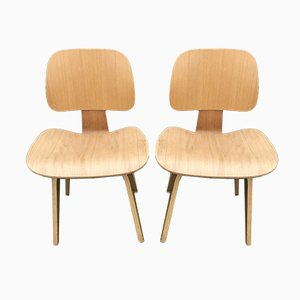 Restored Molded Plywood Chairs in the Style of Eames, Set of 2