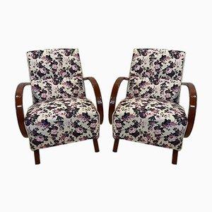 Lounge Chairs by Jindřich Halabala, Set of 2
