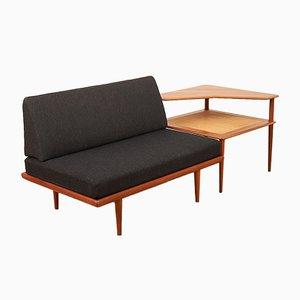 Minerva 418 & 519 Sofa with Solid Corner Table by Peter Hvidt & Orla Mølgaard-Nielsen for France & Son, 1955