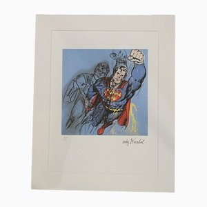 Superman Pencil Lithograph Nr. 4018/5000 by Andy Warhol, Carnegie Museum of Art, United States, 1980s