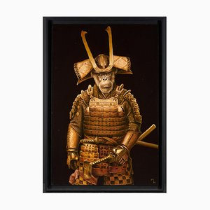 Samurai Akechi by Marc Le Rest (b. 1969), Oil on Canvas, 2018