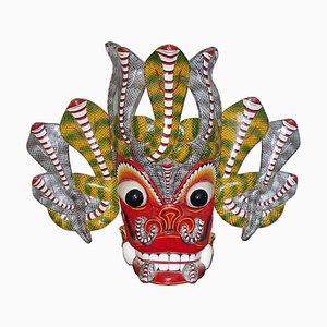 Balinese Barong Dance Mask Sculpture